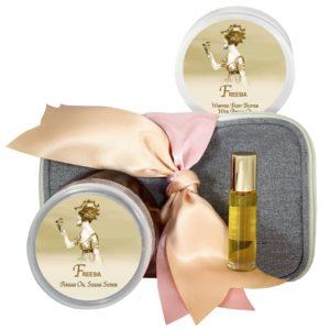 Freesia Body Butter (8oz), Sugar Scrub (8oz) & Roll-on Parfum (10ml)
