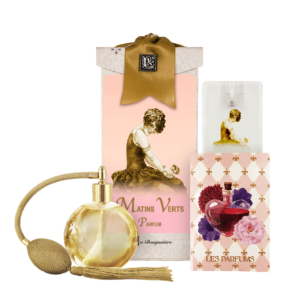 Matins Verts French Perfume (4.32 oz./128 ml.) & Eau de Parfum Spray Sanitizer (0.67 oz./20 ml.)