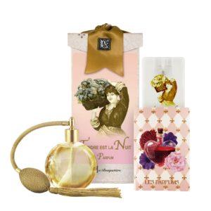 Tendre est la Nuit French Perfume (4.32 oz./128 ml.) & Eau de Parfum Spray Sanitizer (0.67 oz./20 ml.)